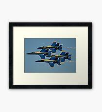 The U.S. Navy flight demonstration squadron, the Blue Angels. Framed Print