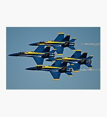 The U.S. Navy flight demonstration squadron, the Blue Angels. Photographic Print