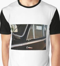 Side doors and windscreen of classic vintage black car Graphic T-Shirt