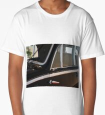 Side doors and windscreen of classic vintage black car Long T-Shirt