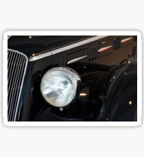 Classic black car detail of head round lamp Sticker