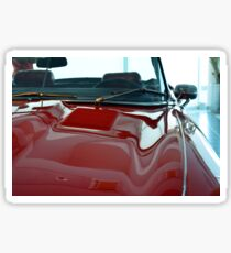 Front part detail of red vintage shining car Sticker