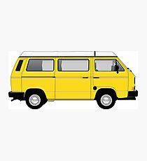 T25 VW Camper yellow big bumper Photographic Print
