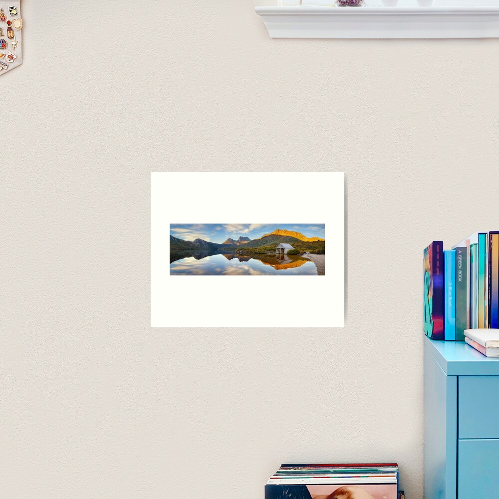 Dove Lake Boat Shed, Cradle Mountain, Australia Art Print