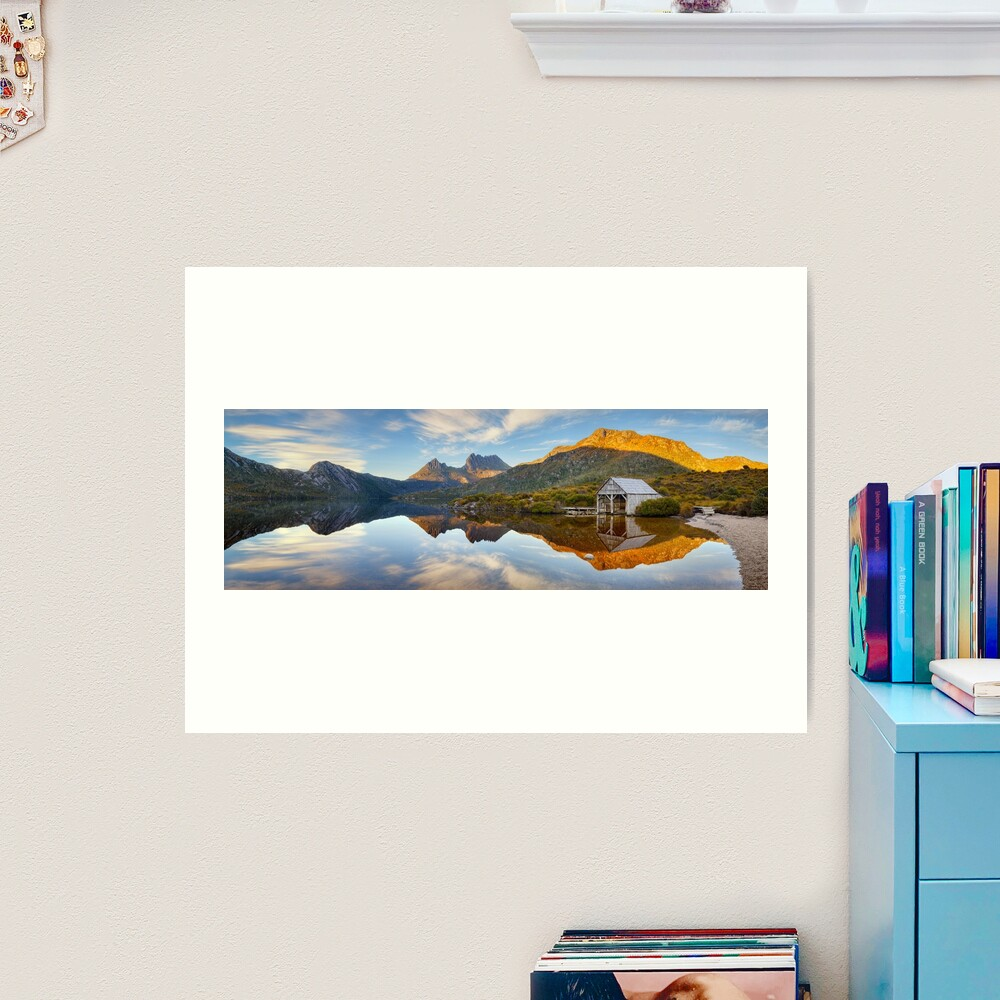 Dove Lake Boat Shed, Cradle Mountain, Australia Art Print