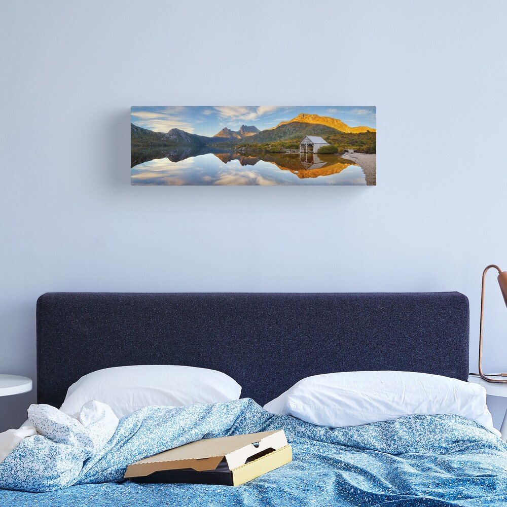Dove Lake Boat Shed, Cradle Mountain, Australia Canvas Print