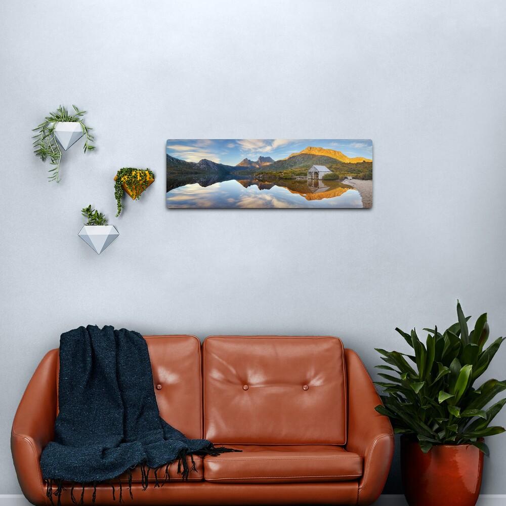 Dove Lake Boat Shed, Cradle Mountain, Australia Metal Print