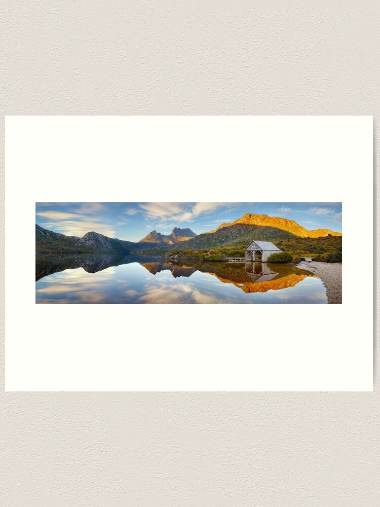 Alternate view of Dove Lake Boat Shed, Cradle Mountain, Australia Art Print