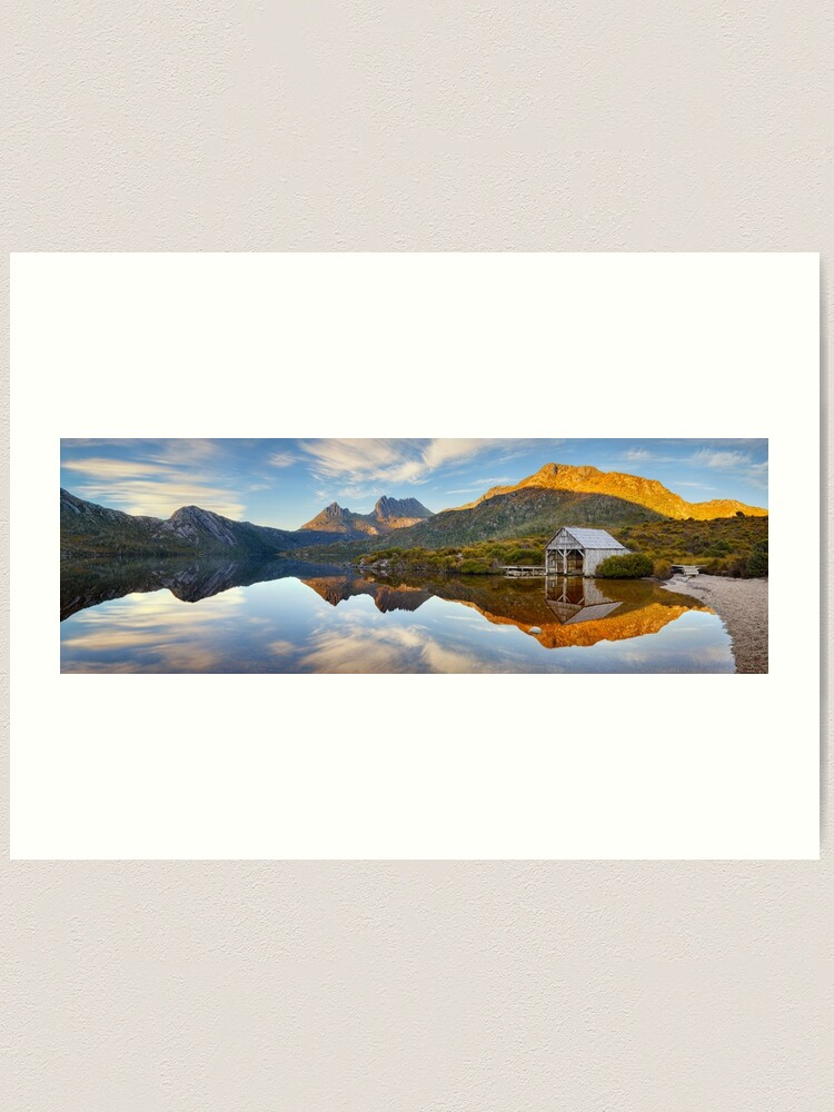 Alternate view of Dove Lake Boat Shed, Cradle Mountain, Australia Art Print