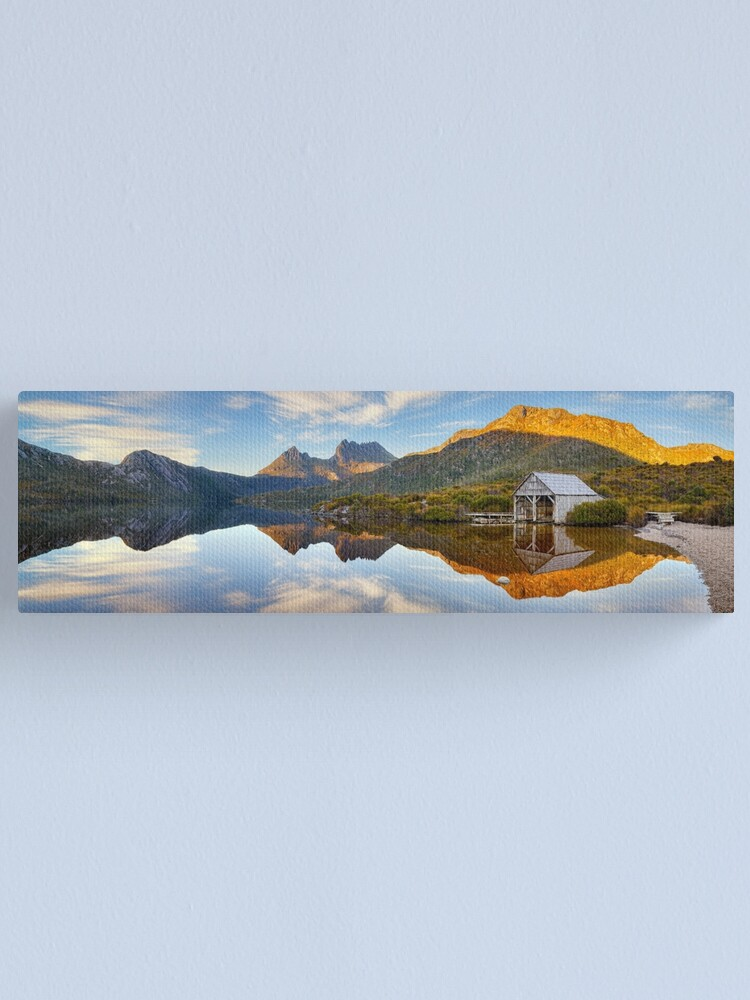 Alternate view of Dove Lake Boat Shed, Cradle Mountain, Australia Canvas Print
