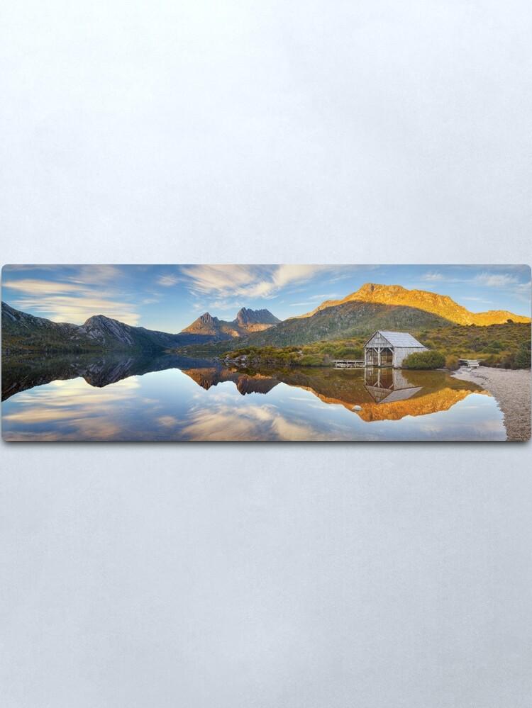 Alternate view of Dove Lake Boat Shed, Cradle Mountain, Australia Metal Print