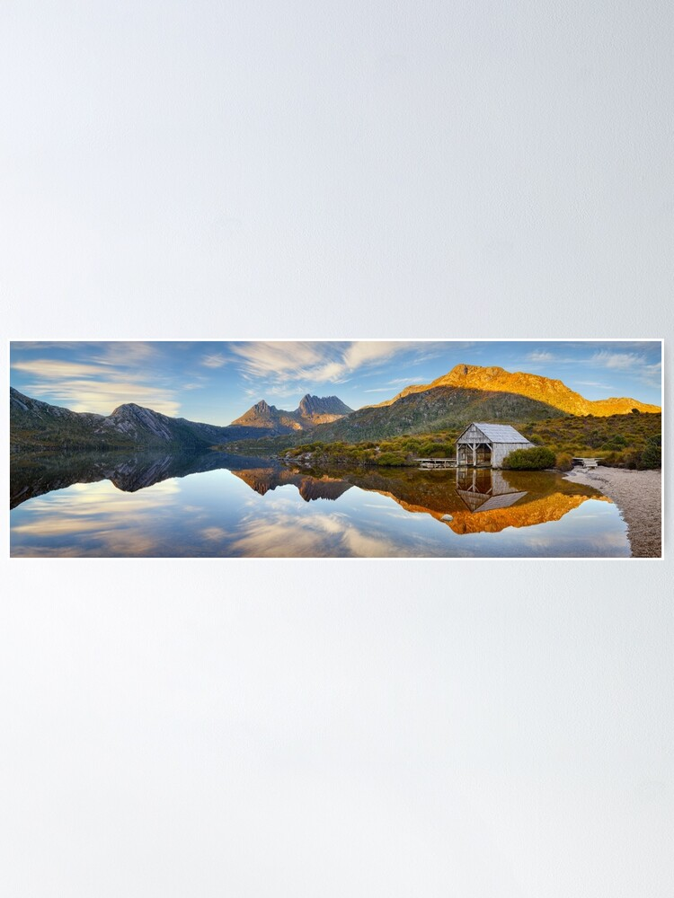 Alternate view of Dove Lake Boat Shed, Cradle Mountain, Australia Poster