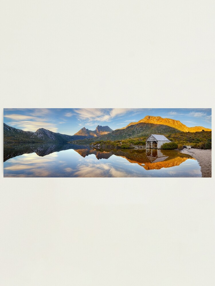 Alternate view of Dove Lake Boat Shed, Cradle Mountain, Australia Photographic Print