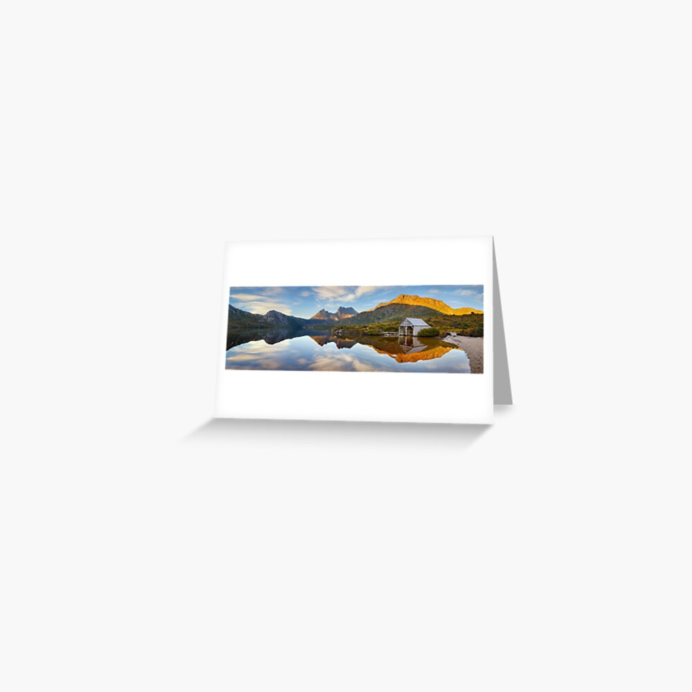 Dove Lake Boat Shed, Cradle Mountain, Australia Greeting Card