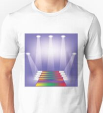 illustration  with colored carpet on blue backgrounds Unisex T-Shirt