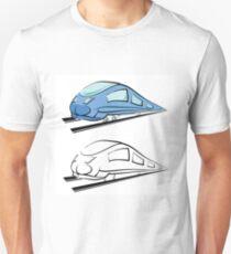 modern train silhouette Unisex T-Shirt