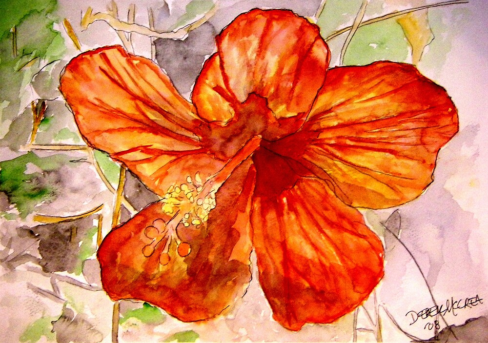Hibiscus tropical flower 2 by derekmccrea