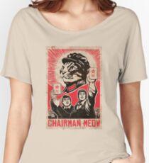 Meow Mao China cat meme Women's Relaxed Fit T-Shirt