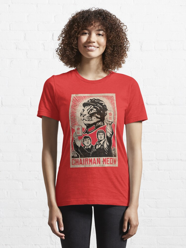 Alternate view of Meow Mao China cat meme Essential T-Shirt