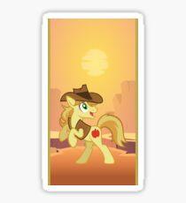 my little pony braeburn Sticker