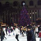 Bryant Park Christmas Tree, Bryant Park Skating Rink, Bryant Park, New York City  by lenspiro