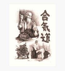 Morihei Uyeshiba  Art Print