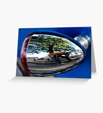 Self-Portrait In A Chrome Bullet Greeting Card