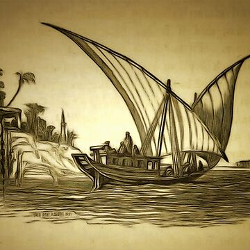 A Dhow on the Nile, Egypt 1850 by ZipaC