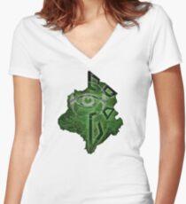 Enlightened Erudite Women's Fitted V-Neck T-Shirt