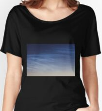 Noctilucent cloud (NLC, night clouds), cloud-like phenomena in mesosphere Women's Relaxed Fit T-Shirt