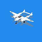 Lockheed P-38 Lightning by Boxzero