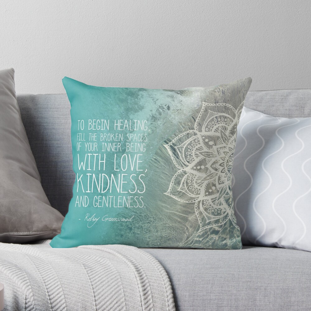 Lost For Words - October 2015 Throw Pillow