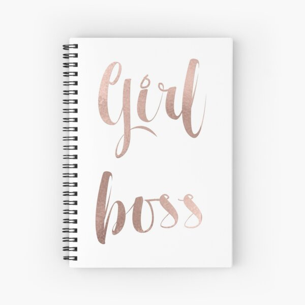 Girl boss - rose gold Spiral Notebook
