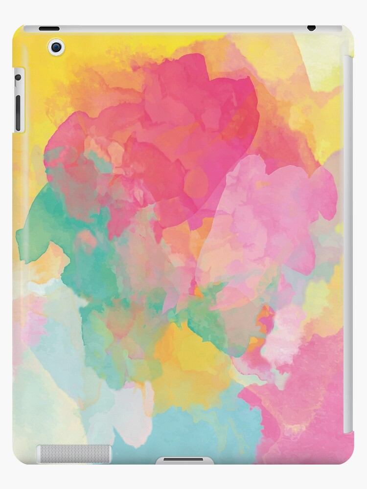 da0f61ed15108 'Pastel watercolors canvas' iPad Case/Skin by lalylaura