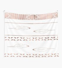 Rose gold feather boho Wall Tapestry
