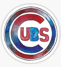 Chicago Cubs watercolor Sticker