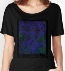 USGS TOPO Map Georgia GA Sandy Springs 246850 1955 24000 Inverted Women's Relaxed Fit T-Shirt