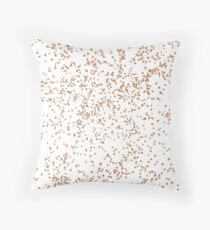 Rose gold confetti glitter - transparent background Throw Pillow