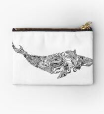 Whale drawing by Floris V Zipper Pouch