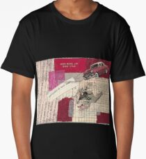 "Original Collage - ""Red Car"" Long T-Shirt"