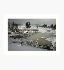 Yellowstone in Winter Art Print