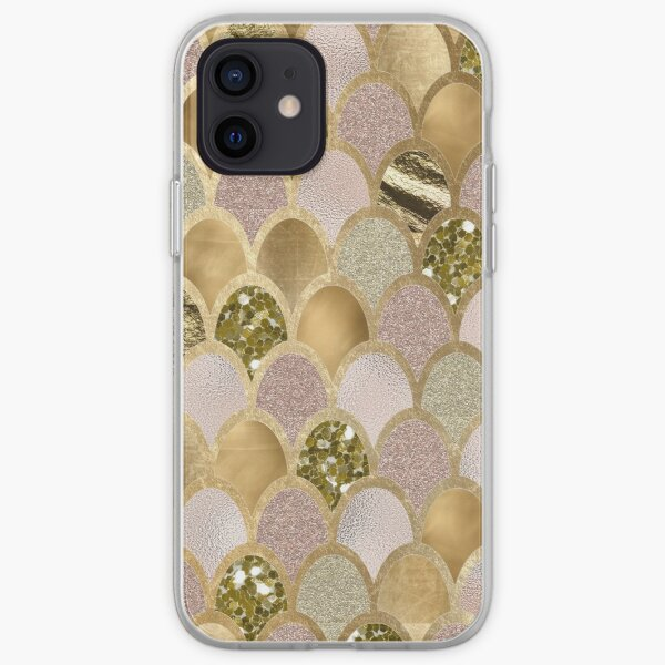 Rose gold mermaid scales iPhone Soft Case