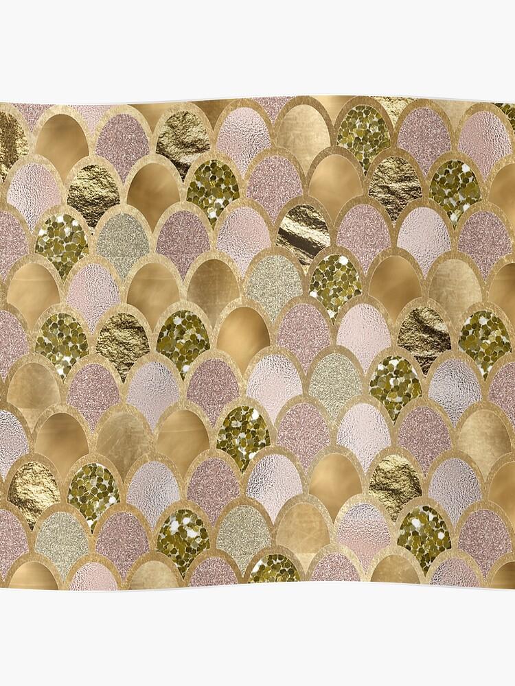 bcb09b55fd149 Rose gold mermaid scales