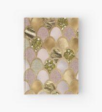Rose gold mermaid scales Hardcover Journal