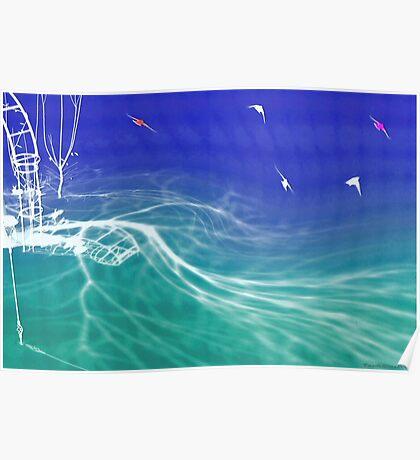 Backyard dream of ocean Poster