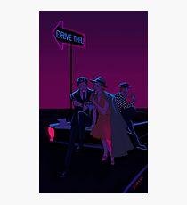 Neon Drive Thru Photographic Print