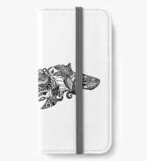 Whale drawing by Floris V iPhone Wallet/Case/Skin