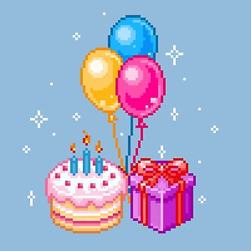 Pixel Art - Happy Birthday by maicakes