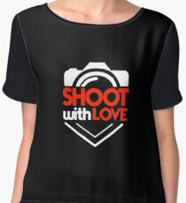 Shoot With Love - Photography, Photographer, Selfie, Camera, Photo Gift Chiffon Top