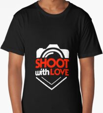 Shoot With Love - Photography, Photographer, Selfie, Camera, Photo Gift Long T-Shirt